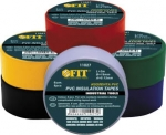 Изолента PVC 19 мм х 0,13 мм х 3 м (6 шт., цветная), FIT, 11027