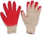 Перчатки вязаные х/б с резиновой заливкой наладонника., FIT, 12470