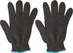 Перчатки вязаные утепленные черные х/б, FIT, 12496
