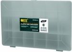 Ящик-органайзер прозрачный для крепежа (275х185х42 мм), FIT, 65641